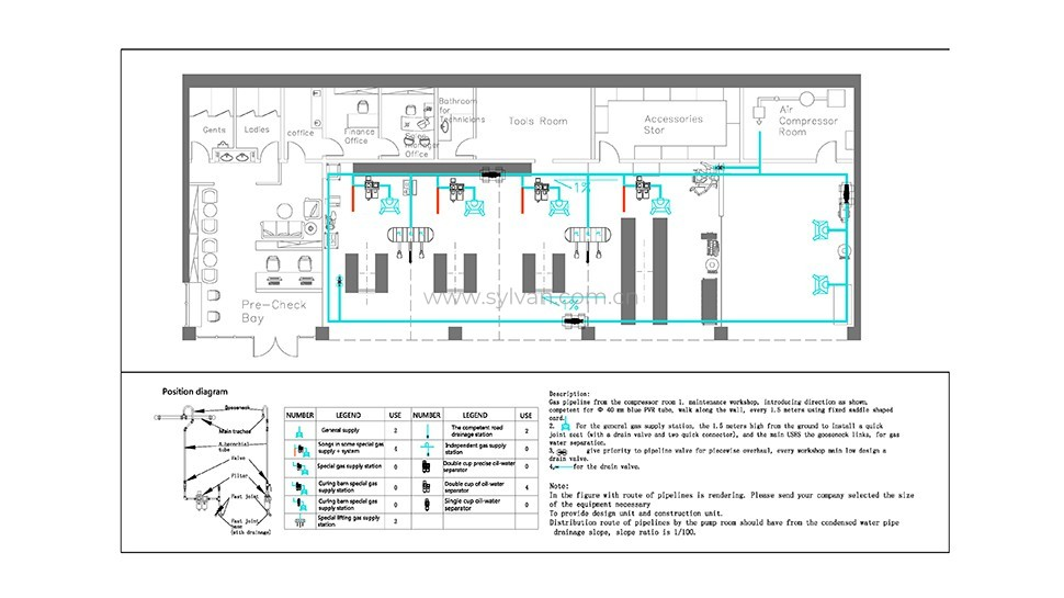Automotive Tire Shop Design Project - Construction Drawing - JoyDesign