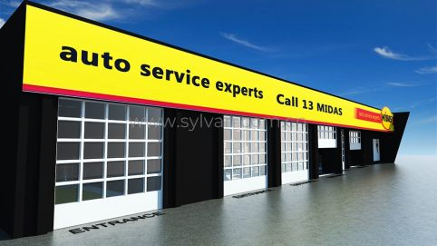 Automotive Quick Repair Service Design Project - Building Exterior - JoyDesign