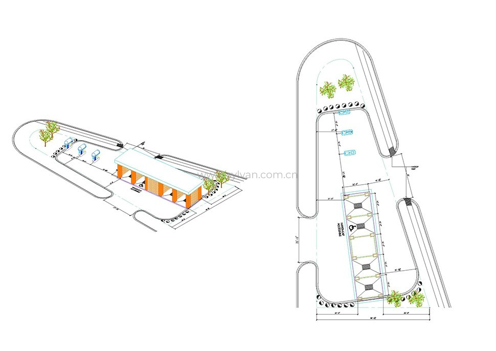 汽修厂车间设计图纸-加纳洗车站-卓一设计