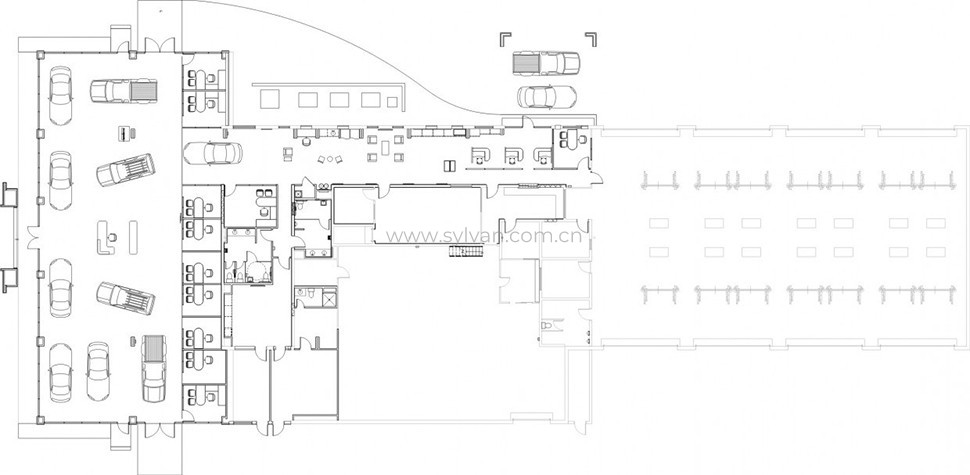 汽修厂车间设计图纸-佛罗里达4S店-卓一设计
