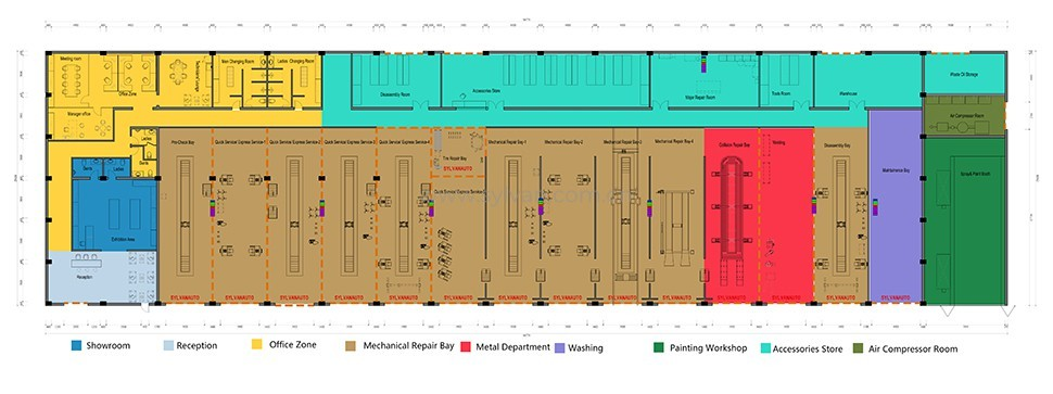 Commercial Vehicle Repair Center - Construction Drawing - JoyDesign