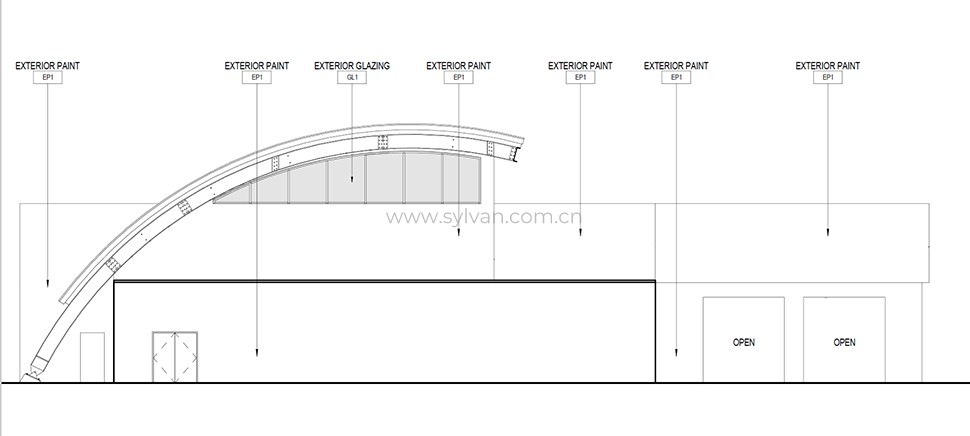 4S shop design project - Construction Drawing - JoyDesign