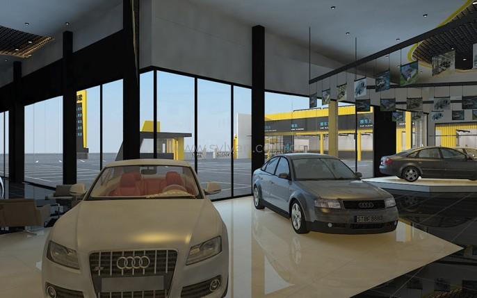 汽修厂接待设计效果图-i车帮-卓一设计