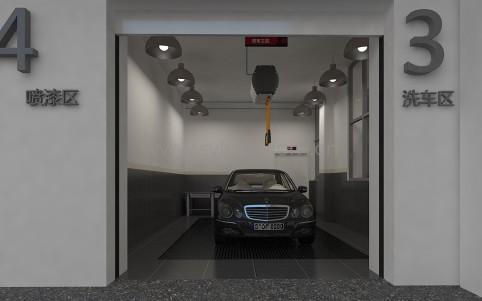 General Automotive Repair Shop Design Project - Workshop Area - JoyDesign