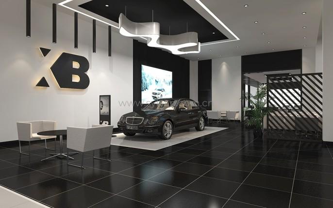 汽修厂接待设计效果图-星宝豪车港-卓一设计