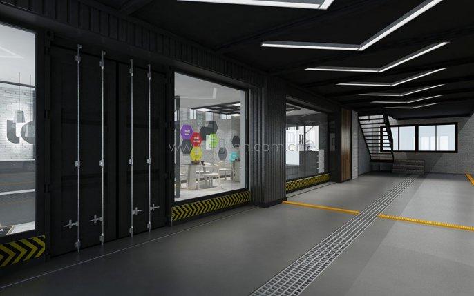 汽修厂接待设计效果图-新势力-卓一设计