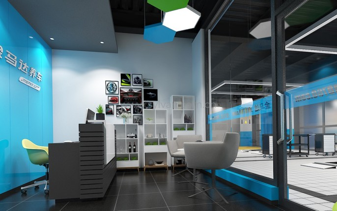 Automotive Quick Repair Service Design Project - Reception Area - JoyDesign