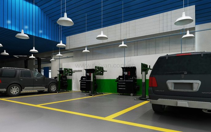 Auto Repair Shop Design Case - Workshop Area - JoyDesign