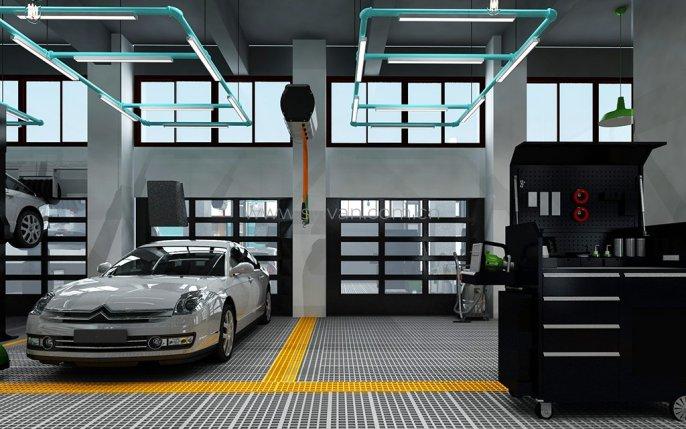 汽修店车间设计-新势力-卓一设计