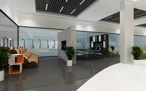 First-class automotive repair shop design project - Reception Area - JoyDesign