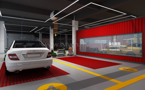 Second-Class auto repair shop design case - Workshop Area - JoyDesign