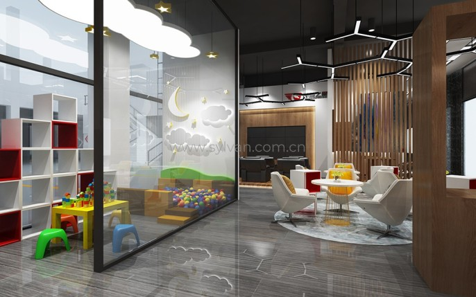 Second-Class auto repair shop design case - Reception Area - JoyDesign