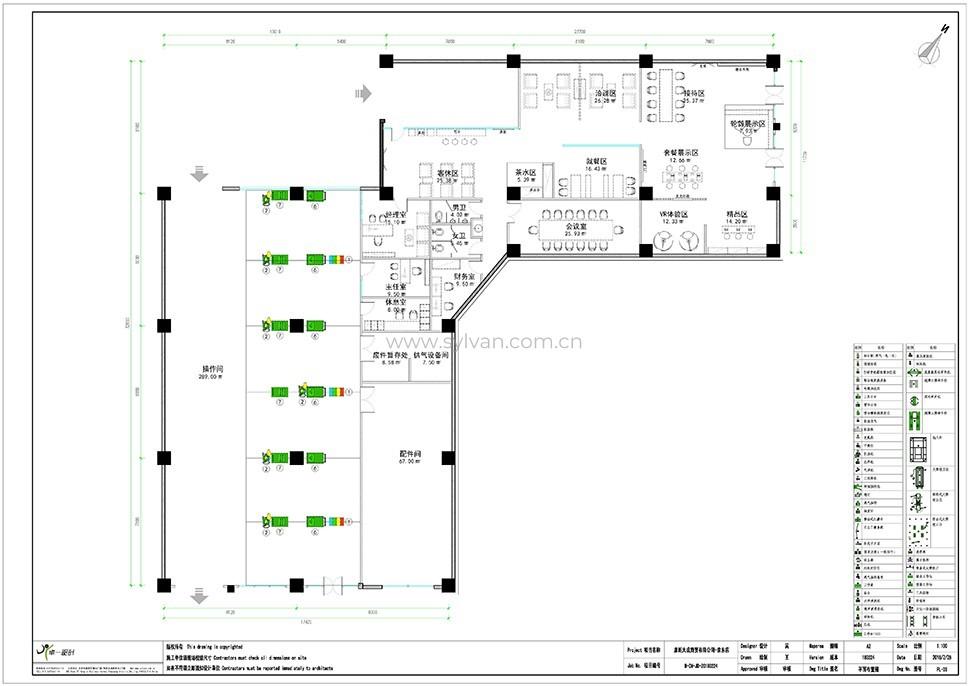 汽修厂设计图纸-京东伙伴店-卓一设计