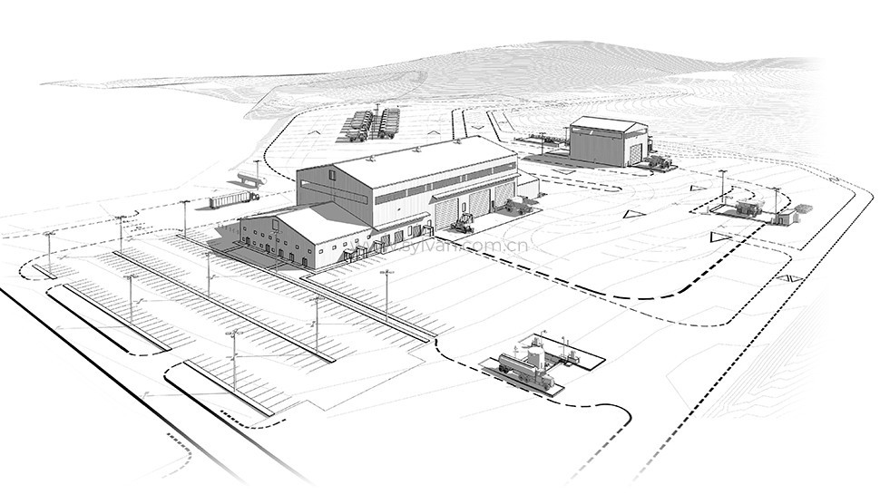 Commercial Vehicle Service Center Design Project - Construction Drawing - JoyDesign