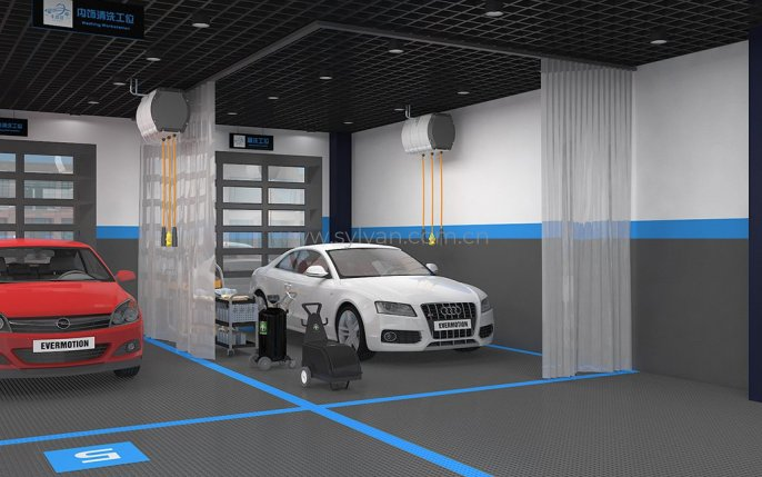Car Washing Chain Brand Design Project - Workshop Area - JoyDesign