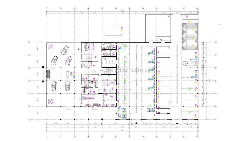 汽修厂车间设计图纸-美国雪佛兰4S店-卓一设计