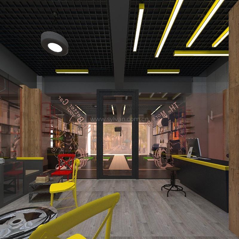 汽修厂接待设计效果图-南星-卓一设计