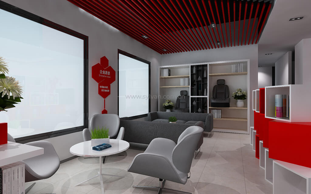 汽修厂休息区设计效果-标榜-卓一设计