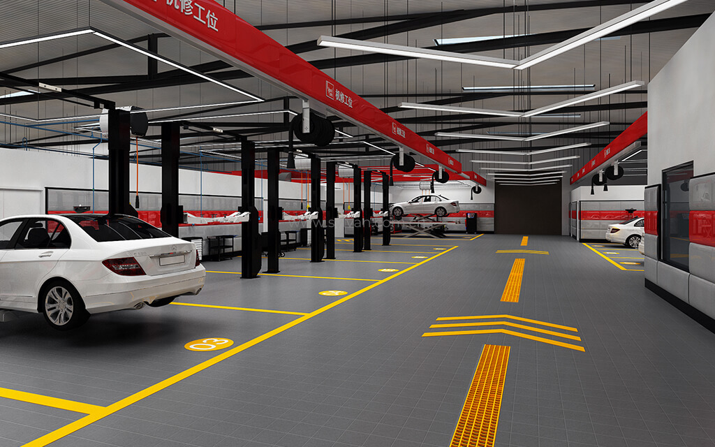 汽修厂车间设计效果-标榜-卓一设计
