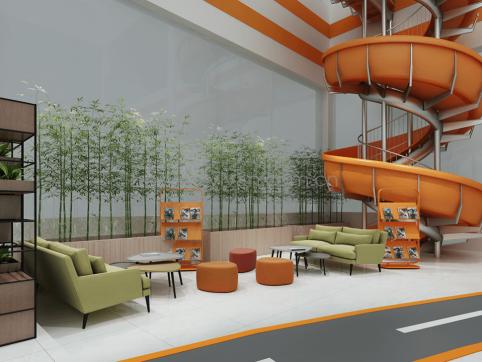 汽修厂体验中心装修设计效果图-晶宫集团-卓一设计