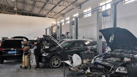 汽修厂装修设计完成图片-邵青奥迪-卓一设计