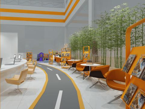 汽修厂开放休息区装修设计效果图-晶宫集团-卓一设计