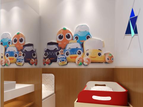 汽修厂母婴室装修设计效果图-晶宫集团-卓一设计