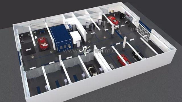 汽车修理厂车间设计图,维修车间效果图分享